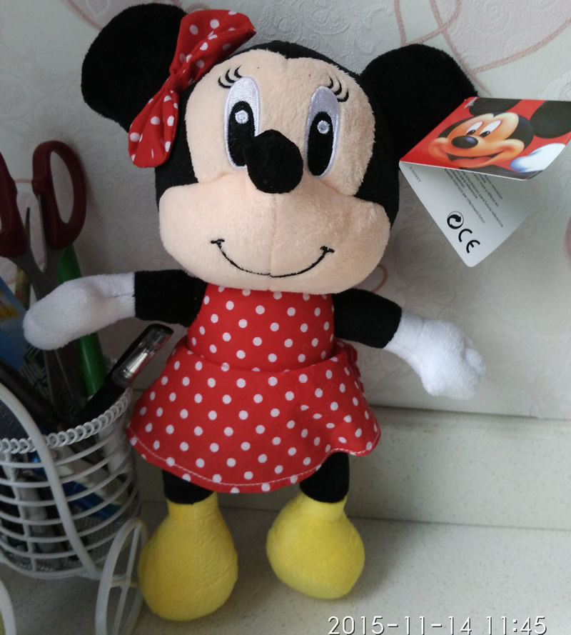 Free Shipping 1pcs New arrived Minnie Mouse Plush Stuffed animals Toys,30cm=11.8'' Minnie Plush Dolls For kids gifts(China (Mainland))