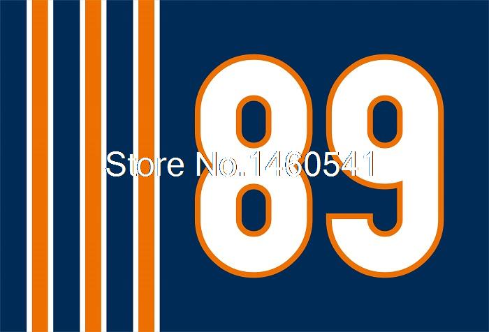 Chicago Bears No.89 Flag 3ft X 5ft Polyester NFL1 Bears Mike Ditka 89 Banner Flying Size No.4 144* 96cm(China (Mainland))