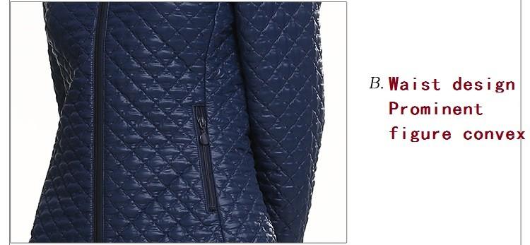 Скидки на 2016 новых зимнее пальто женский европейский и американский мода тонкий тонкий конфеты цвет с капюшоном хлопка-ватник