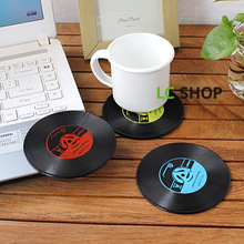 1 pc Useful Vinyl Coaster Groovy Record Cup Drinks Holder Mat Tableware Placemat Hot 2016(China (Mainland))