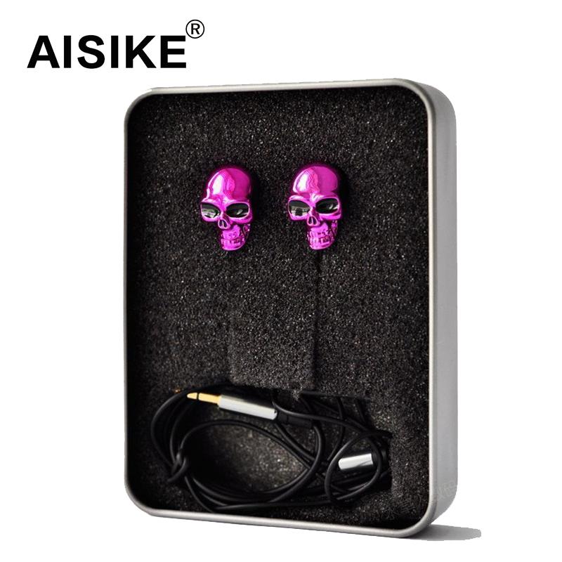 Fashion Design Skull Earphone in Ear Headset for Phone PC mp3 mp4 Devil Christmas Earplugs(China (Mainland))