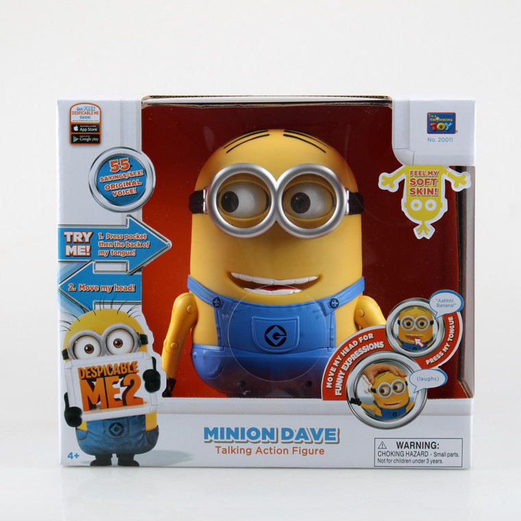 Despicable Me Minions Voice Movable Talking Dave Laughing Stuart Touch Silicone Action Figure Doll Toys Kids Gift(China (Mainland))