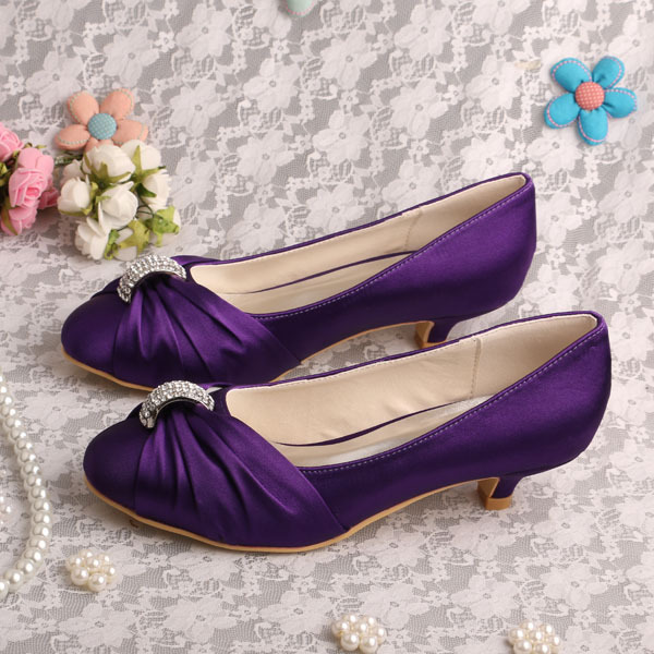 Purple Low Heel Pumps Promotion-Shop for Promotional Purple Low ...