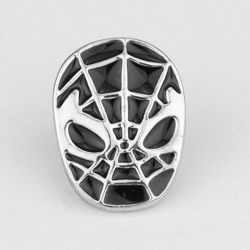 Spiderman The Avengers black Silver Lapel Pin Brooch Emblem Badge High quality font b Dress b
