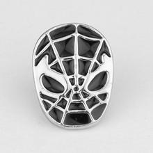 Spiderman The Avengers black Silver Lapel Pin Brooch Emblem Badge High quality Dress Accessory brooches for men