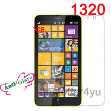 1320 2pcs Anti Glare Matte Frosted No Fingerprint For Nokia Lumia 1320 Ultrathin Screen Protector Film Cover + Cleaning Cloth