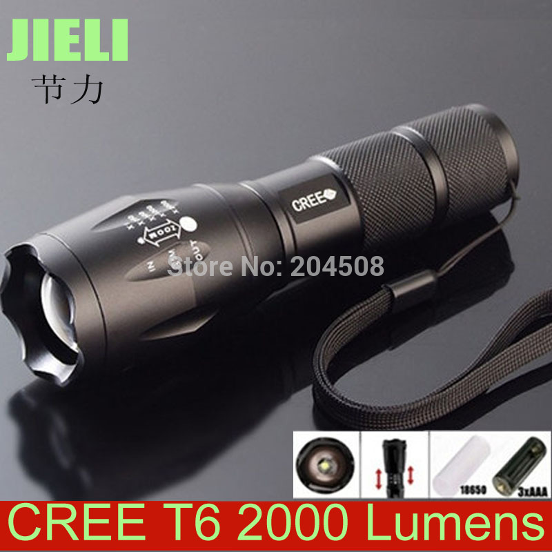 Здесь можно купить  Free Shipping 10pcs/lot Ultra Bright XM-L T6 LED Flashlight 5 Modes 2000 Lumens Zoomable LED Flashlight  Свет и освещение