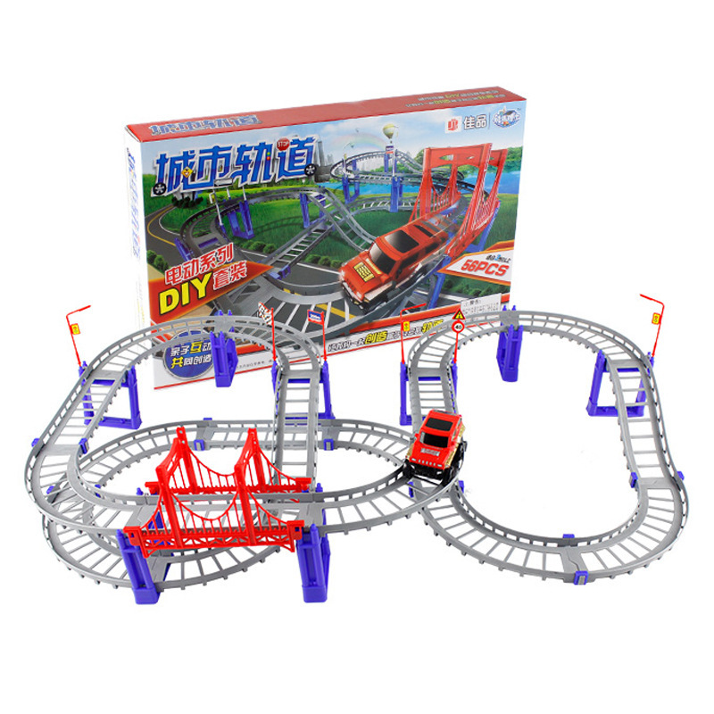 New 56PCS Solt car Thomas Car set Vehicle toys Children Boby kids toys gift Multilayer toms cars Electric Thomas Train carriages(China (Mainland))