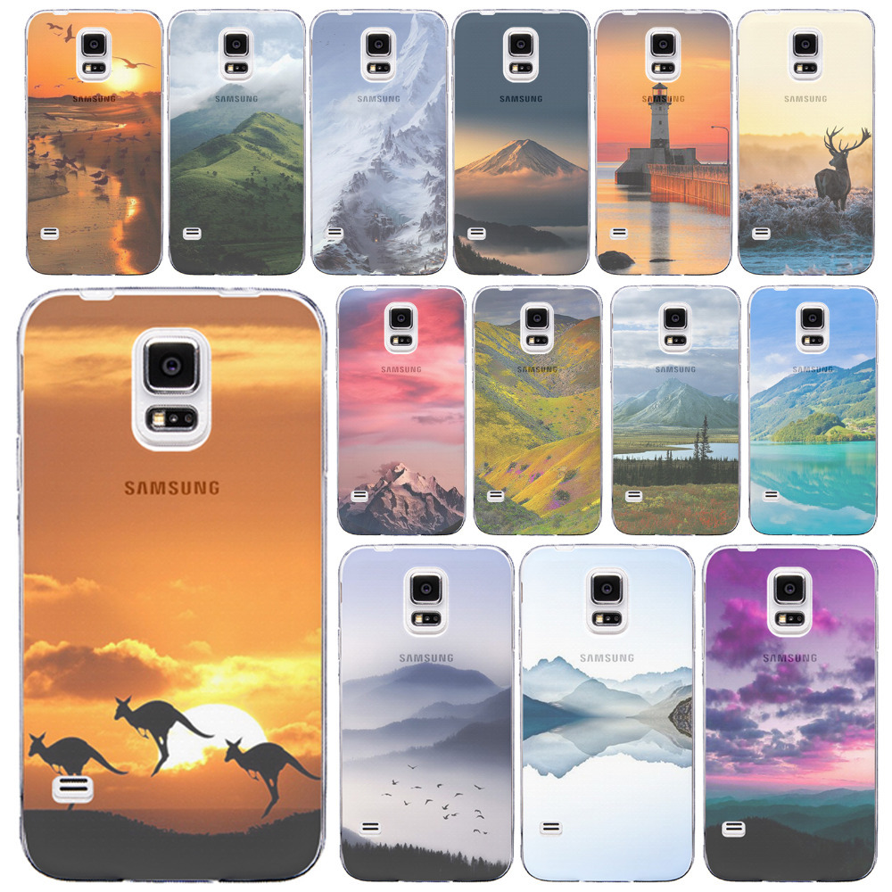 S5 Cases Lovely Animals Color Painted Back Phone Cases for Samsung Galaxy S5 i9600 Ultra Thin Half Clear Phone Case Protector(China (Mainland))