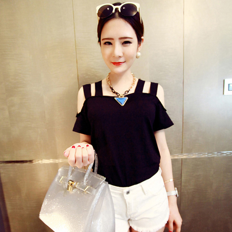 New Solid camisetas Summer Cotton t shirts Fashion Tops 2016 Punk Rock tee shirt femme Off