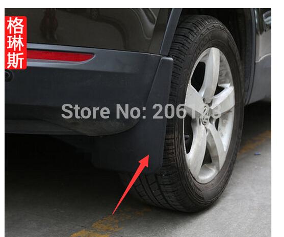 Soft plastic Mud Flaps Splash Guard Fender For 2008 2009 2010 2011 2012 2013 2015 VW Volkswagen TIGUAN Fast air ship(China (Mainland))