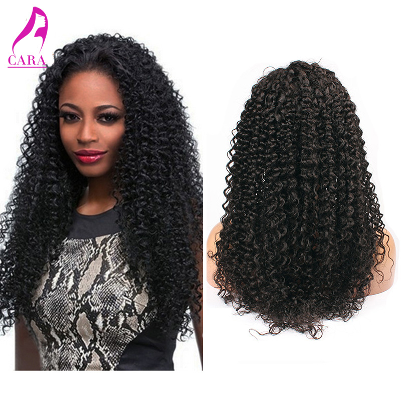 6A Malaysian Glueless Full Lace Human Hair Wigs Kinky Curly Virgin Hair Lace Front Wig With Natural Baby Hair And Bleached Knots