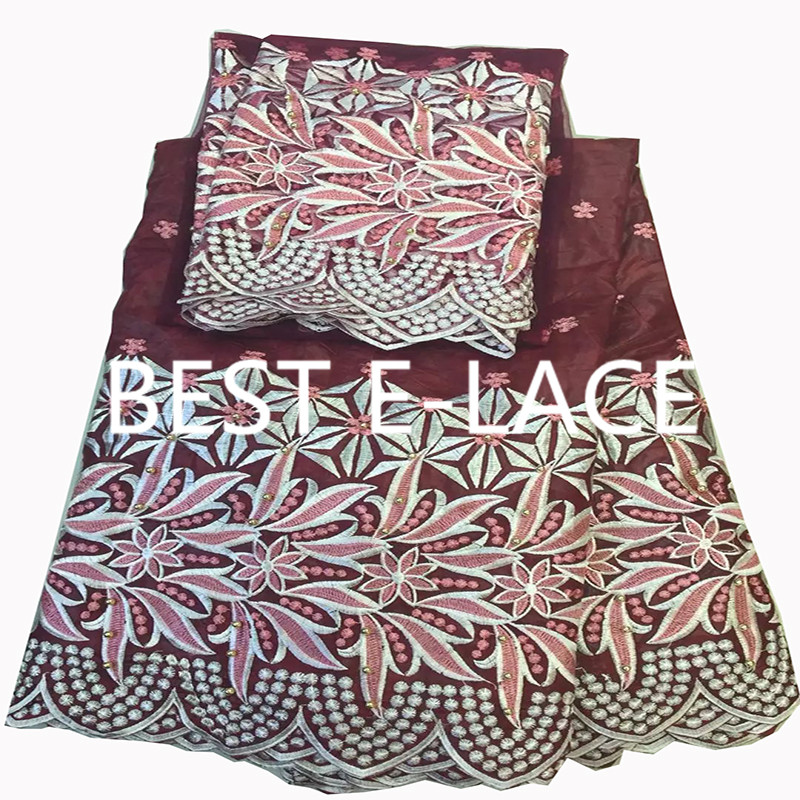 high class hole design george lace fabric indian george wrappers african raw silk george lace fabric 1702l2320d26(China (Mainland))