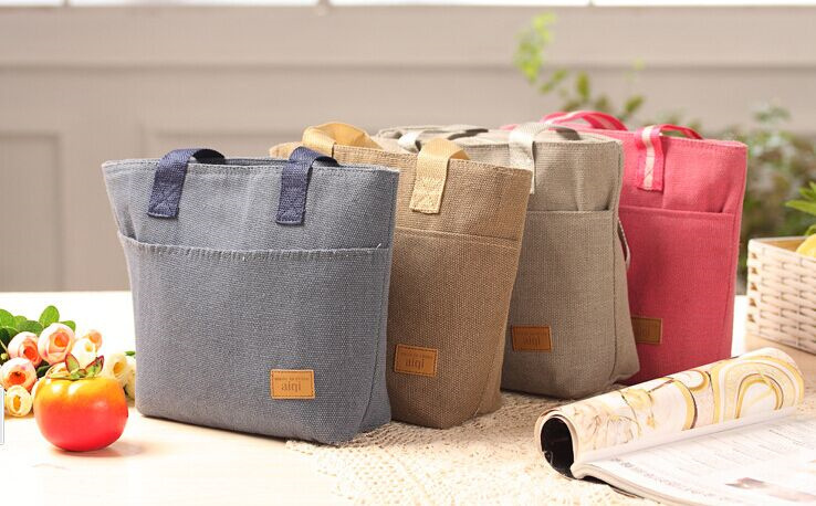 2015NEW Solid Colors 32*25CM Shoulder BAG Lunch Box Holder BAG Pouch Handbag Pouch BAG ; Outdoor Picnic Food Lunch BAG Pouch(China (Mainland))