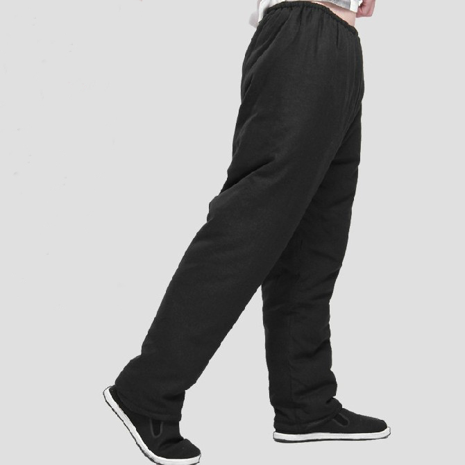 Bruce Lee Vintage Wing Chun kung Fu Pants Tai Chi Martial Arts Classic Thicken Cotton Black long Trousers Size M-XL<br><br>Aliexpress