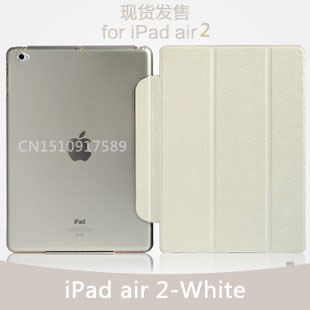 TOP quality flip for apple iPad air 2 leather case smart cover for ipad air 2 case (ipad 6) cover supper slim thin clear