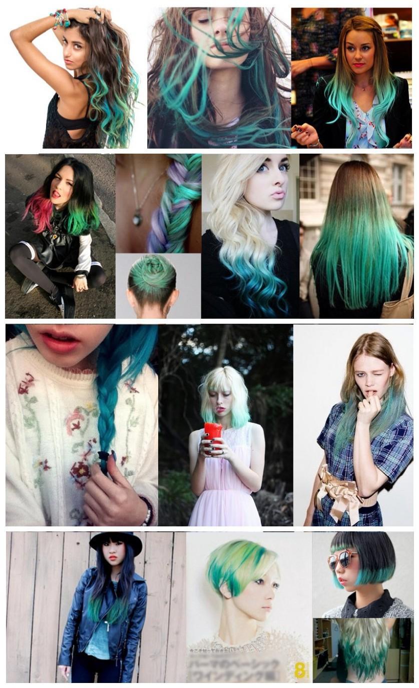 24» 2 оттенка цвета Омбре девушка Хвощ расширения волнистые Парики красочные синтетических косплей волос наращивание волос