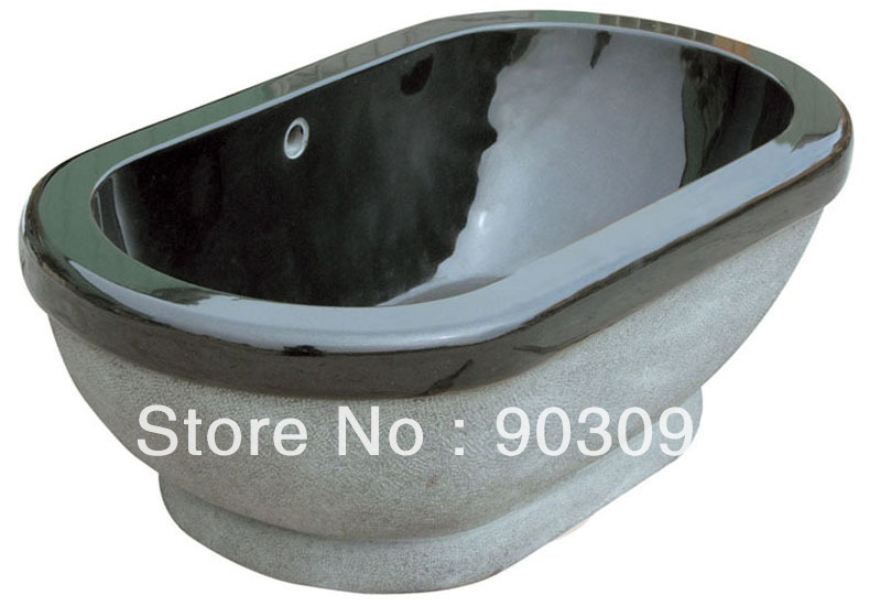 natural stone luxury tub absolute black marble stone bath