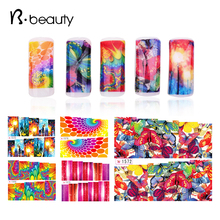 20sheets Colorful Geomety Water Transfer Nail Sticker, 6Designs Oil Painting Wrap Nail Tips Decals For DIY Beauty,Free Shipping