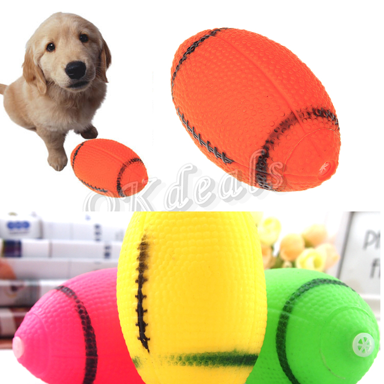 Ball Rugby Ball Pet Dog Food Toy With Quack Sound(China (Mainland))