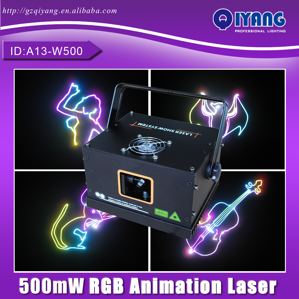 Freeboss A13-W500 500mW RGB Animation Effect Mini Laser Light DJ Disco Party Lights DMX Stage Lighting - Pro Sound & store