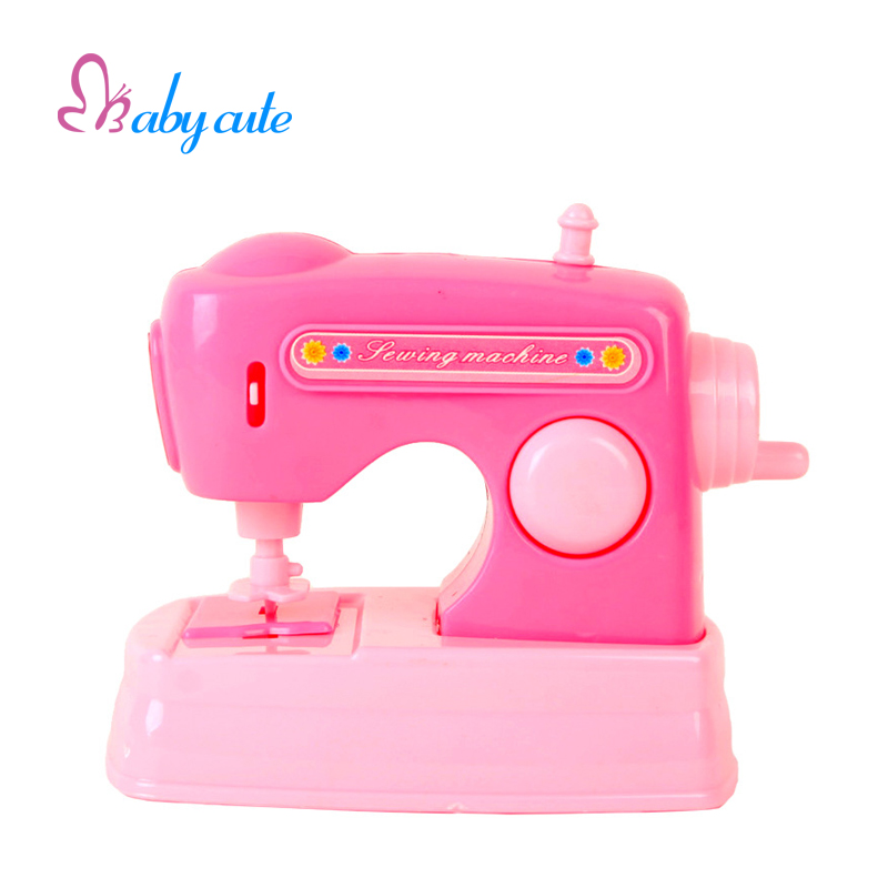 Pink Mini Sewing Toy Kids Simulation Electronic Furniture Classic Pretend Play Gift Model Jouet Baby Learning Puzzle Brinquedo(China (Mainland))