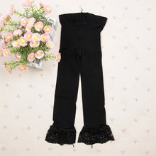 New Candy Color Velvet Baby Kids Girl Legging Pants Colorful Lace Side Legging for Gilrs 5-9Y L4