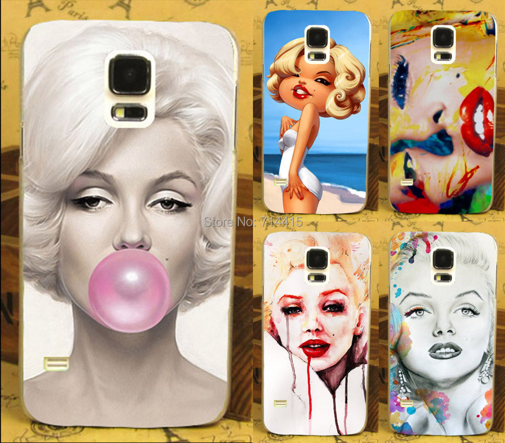 Гаджет  Sexy Lively Marilyn Monroe Bubble Hard Case Cover for Samsung galaxy s5 S V i9600 mobile phone print case free shipping None Телефоны и Телекоммуникации