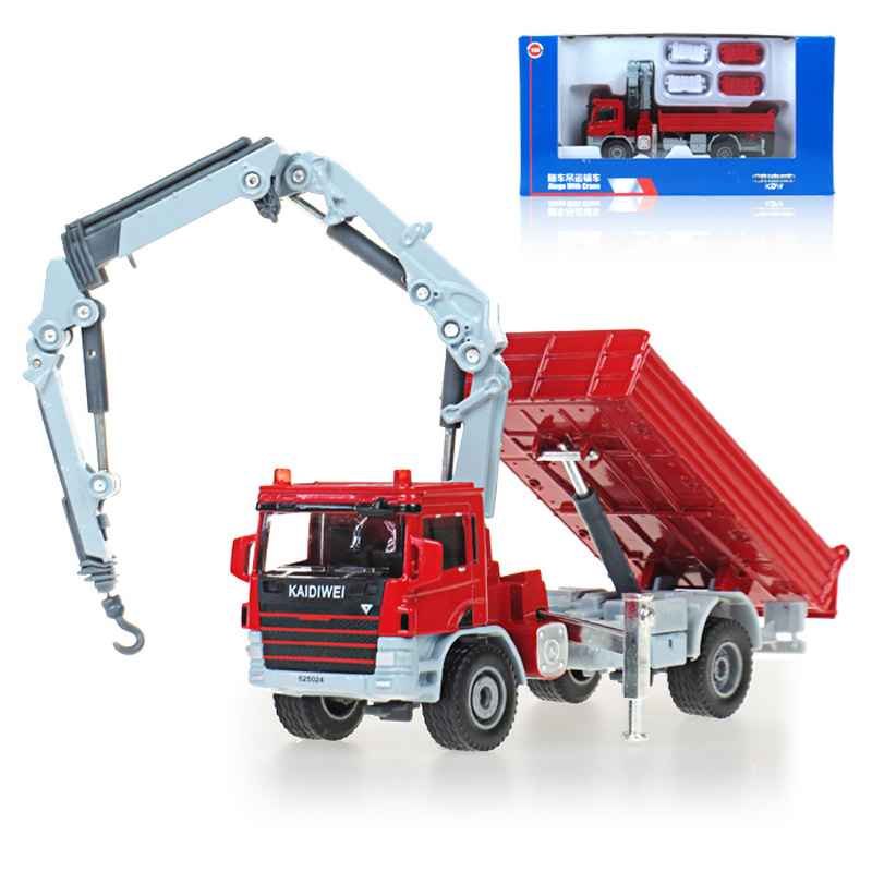 Diecast Toy Alloy Car Model For Kids 1:50 Truck Model Cranes Crane Truck Classic Model Diecast Metal Truck Toy(China (Mainland))