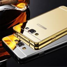 Samsung Galaxy J1 J110 J2 J3 SAMSUNG J5 J7 Case 2016 J5108 J7108 Luxury Aluminum Frame + Mirror Acrylic Back Cover - Shenzehn RH 3C Trading Company Co.,Ltd store