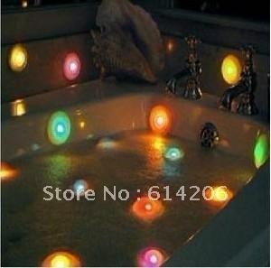 Hot sale Brand new 10 PCS Color Changing LED Spa Lights Bath Hot Tub Poo, romantic bathroom, free shipping