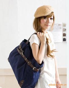 Newest Fashion Women Lady Girl Casual Canvas Bag Handbags Shoulder Shopper Boat Tote Bag Free Shipping(China (Mainland))