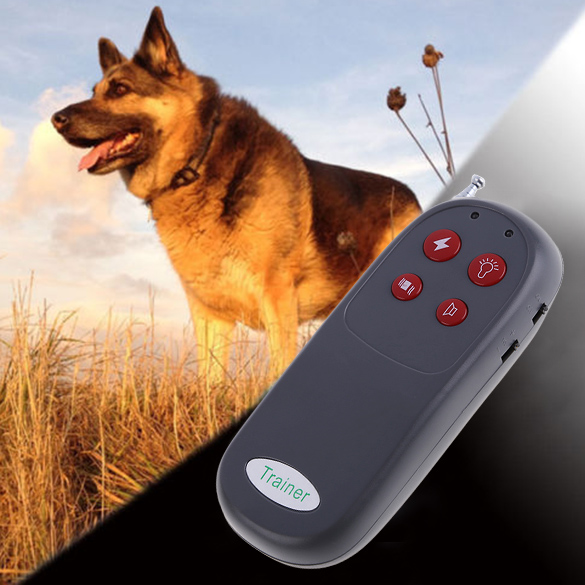 Automatic 4 In 1 Remote Control Pet Dog Training Collar Shock Vibrate Anti Bark Dog Training Repeller Stop Barking No Harm(China (Mainland))