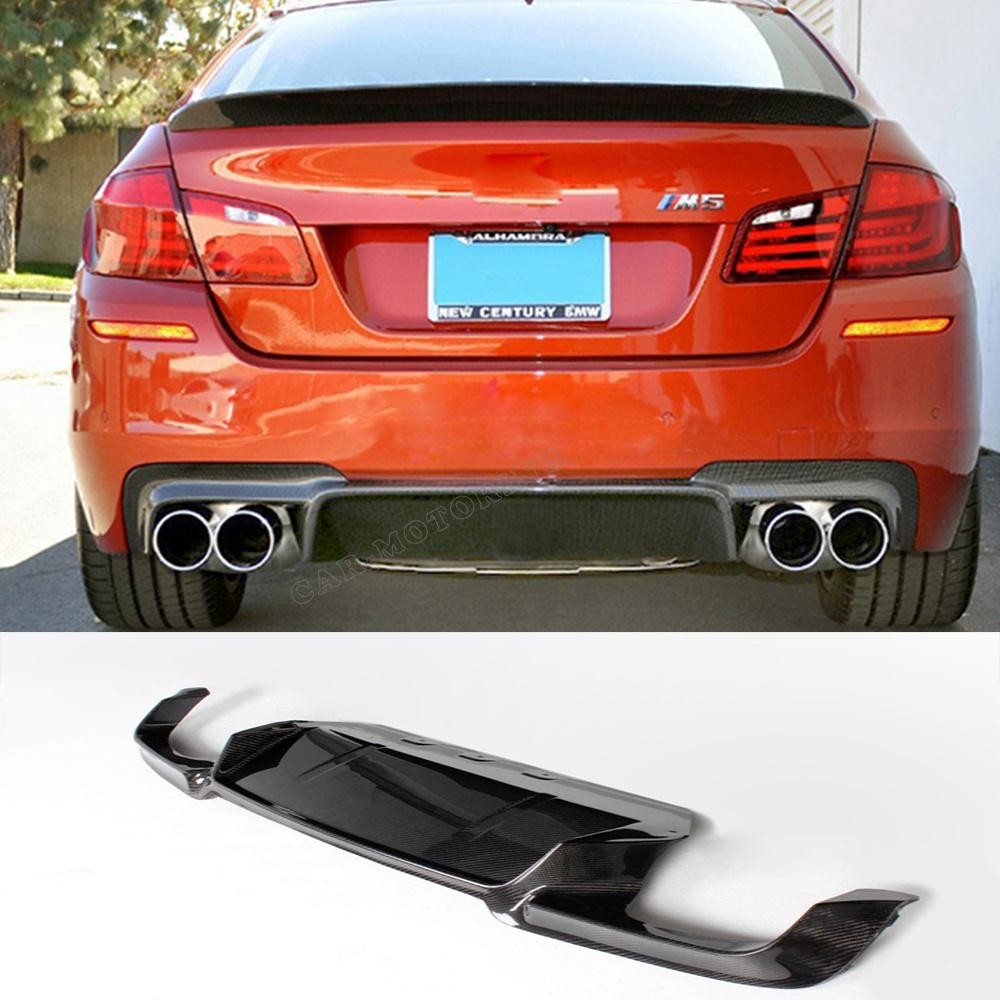 Aliexpress Com Buy High Quality M5 Style F10 Carbon Fiber Rear Lip Diffuser Lip Splitter For