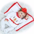 22 silicone reborn dolls for children new year gift soft touch Christmas Dress Up drink doll