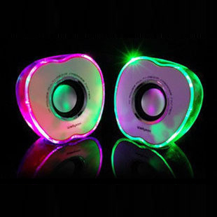 Shinning apple style PC speakers 2.0 channel with perfect sound and best price(China (Mainland))