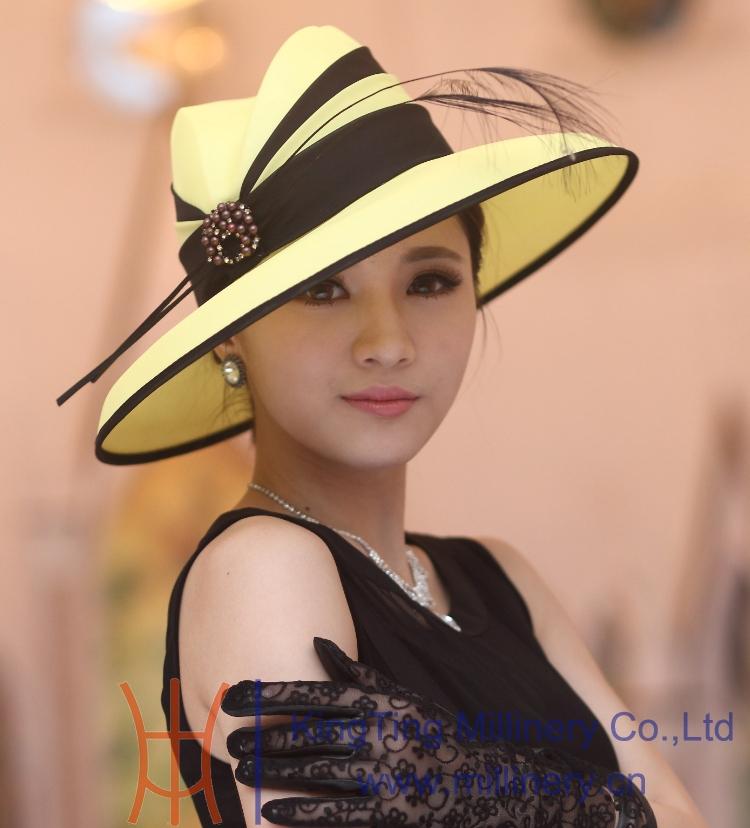 Free Shipping Hot Sale Fashion Elegant Women Hat Sun Hat Church Hat Flower Girl Big Brim