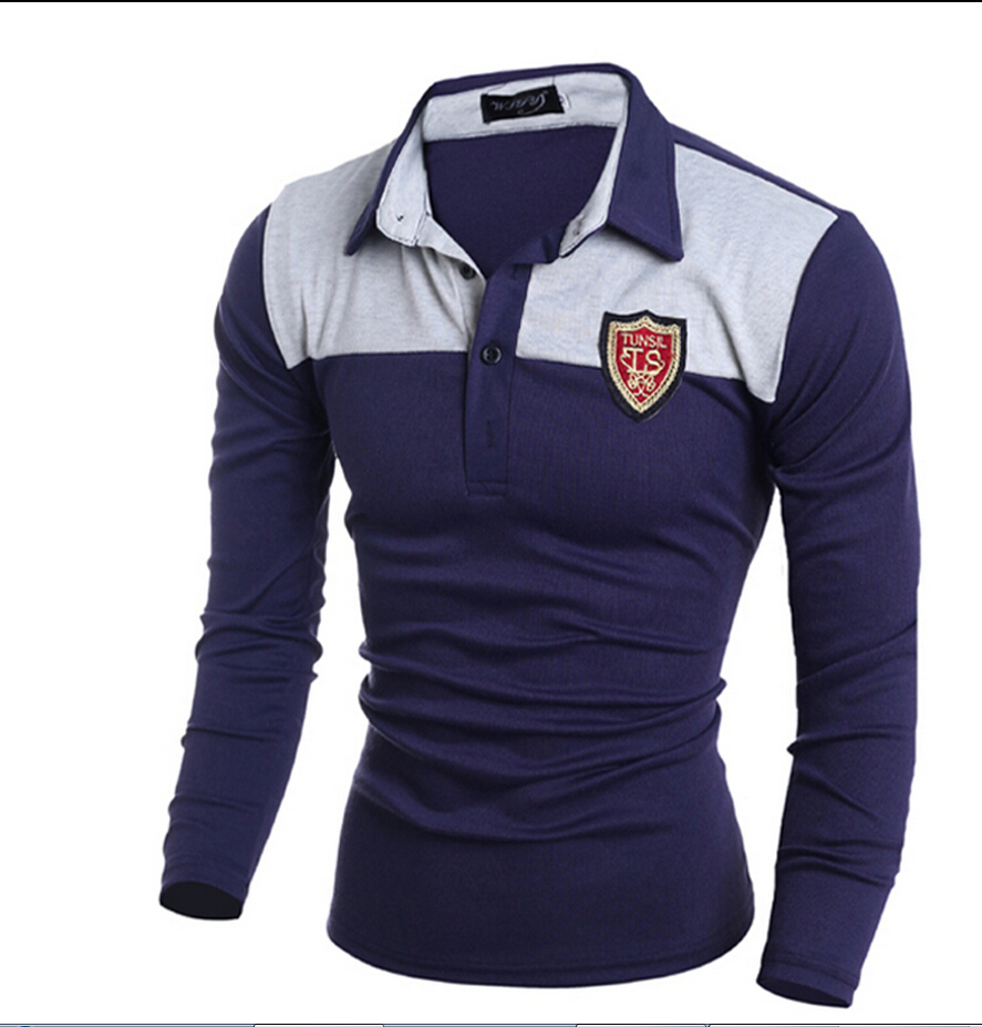 New arrival men 39 s full sleeves brand polo shirt casual for Full sleeve polo t shirts