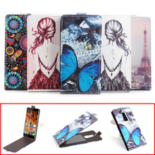 Buy Fashion Painted Sticky Flip Leather Cover Case Elephone S3 PU Protection Shell Case w/ Magnetic Lock for $4.99 in AliExpress store