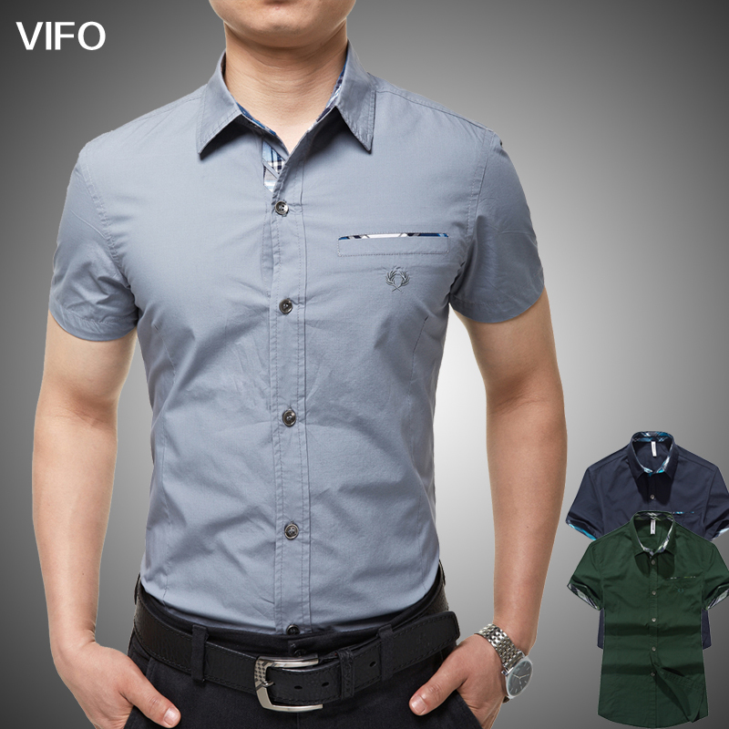 Fitted short sleeve dress shirts for men is shirt for Short sleeved shirts for men
