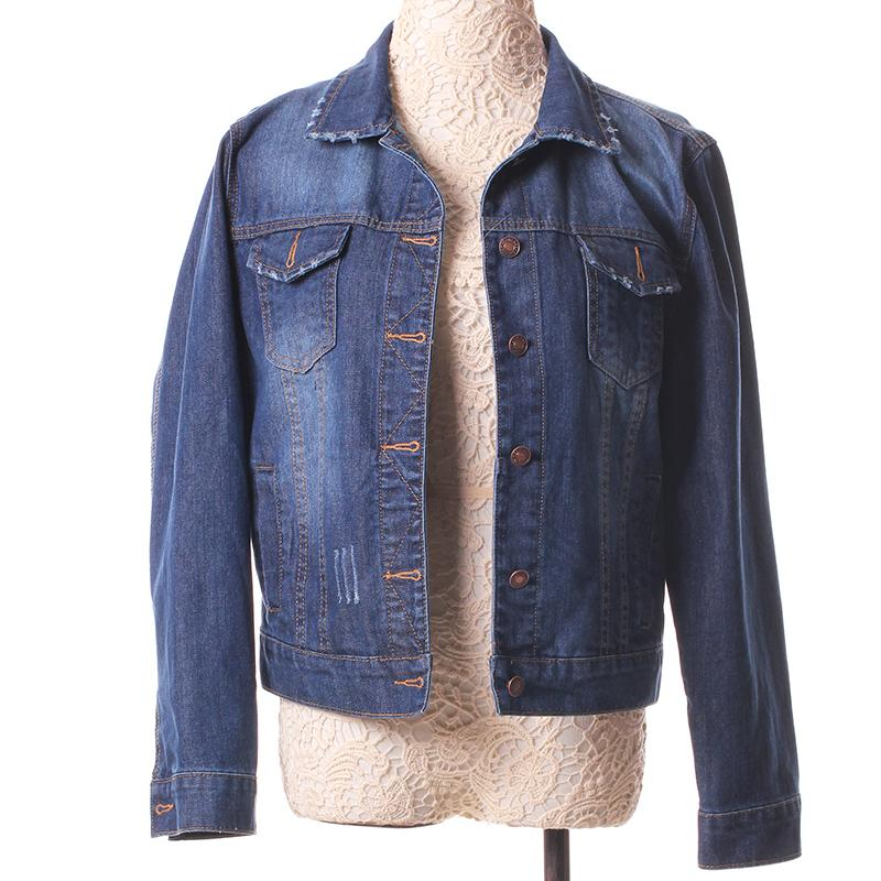 2ed9cf5e525 New Spring Summer 2016 Plus Size Vintage Cropped Short Denim Jacket Long-Sleeve  Cardigan Coat Jeans Jacket Women