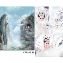 photography baby backdrops 6.5x10ft(200x300cm) Fantasy wonderland mountain clouds backgrounds for photo studio