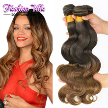 Top Grade Ombre Hair Weaves 3pcs/lot Malaysian Virgin Hair Body Wave Human Hair extensions Ombre Hair Extensions Tangle Free