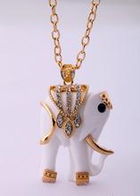 Fashion Animal Elegant Resin Elephant  Necklace(China (Mainland))