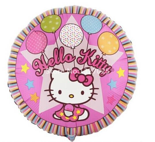 18inch Hello Kitty Balloon Party Birthday Supplies for baby girl shower cat KT pet happy birthday decoration ball balao de festa(China (Mainland))