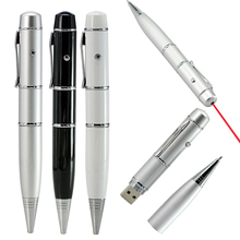 Hot Ballpoint pen model Laser Light usb flash pen drive memory stick pendrive 4GB 8GB 16GB 32GB 64GB Business gift Free shipping(China (Mainland))