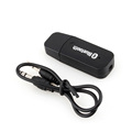 Black Color USB Wireless Bluetooth 3 5mm Music Audio Car Handsfree Receiver Adapter for phone for