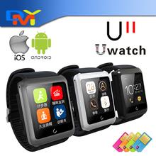 2015 Uwatch U11 bluetooth-смарт часы Smartwatch для ios часы телефон SIM карты сна монитор шагомер 3 цвета в наличии