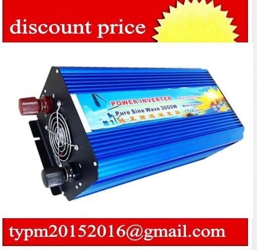 DC48V to AC 120V 3000w pure sine wave power car inverter invertor power supply(China (Mainland))