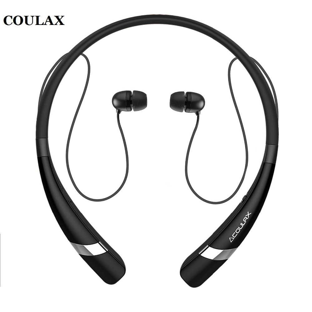 COULAX Bluetooth Headphones Headset Neckband V4.1 Bluetooth Earphone with Microphone Sport Earphone for iPhone Android Phone(China (Mainland))